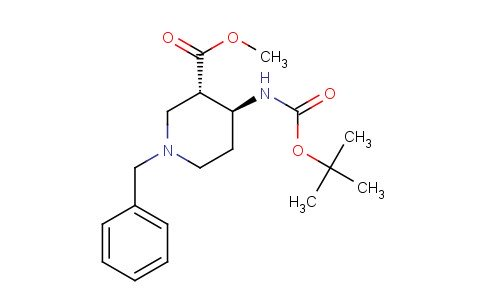trans-Methyl 1-benzyl-4-((tert-butoxycarbonyl)amino)piperidine-3-carboxylate